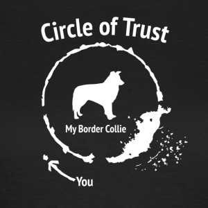 Funny Border Collie skjorte - Circle of Trust - T-skjorte for kvinner