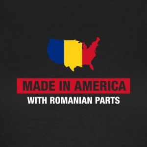 Made In America With Romanian Parts Romania Flag - Women's T-Shirt