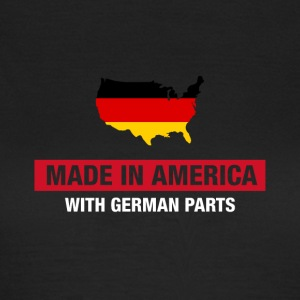 Made In America With German Parts Germany Flag - T-shirt dam