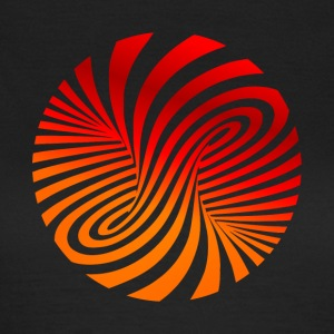 psychedelic optical type swirl orange 70s style fu - Women's T-Shirt