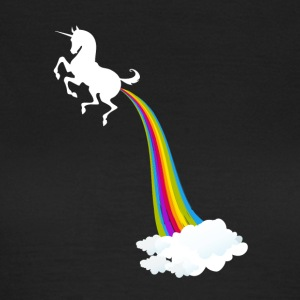 Unicorn Farting Rainbow - T-shirt dam