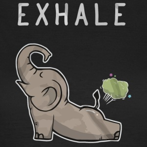 Exhale Elephant grappig overhemd - Vrouwen T-shirt