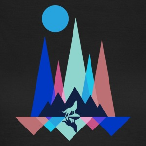 Mountain Wolf Polygon - Frauen T-Shirt
