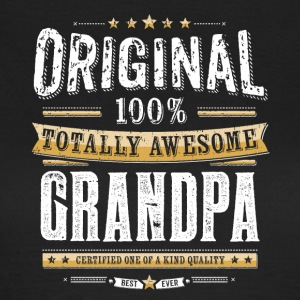 Original 100% Awesome Grandpa - T-skjorte for kvinner