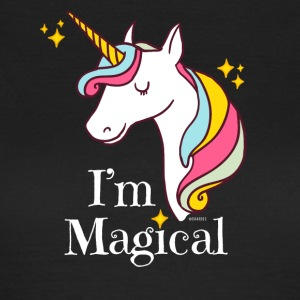 I'm Magical Unicorn T-Shirt in Black - Women's T-Shirt