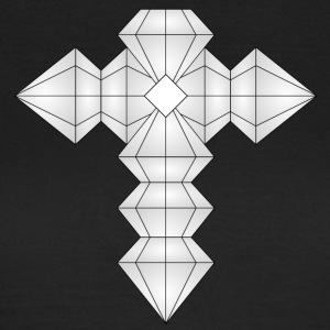 Cross af diamanter - Dame-T-shirt