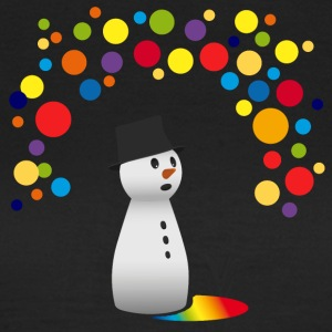 snowman snowman funny colorful balloons children - Women's T-Shirt