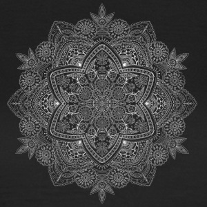 Mandala hand drawn in white - Women's T-Shirt