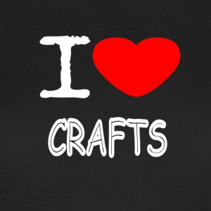 I LOVE CRAFTS - T-skjorte for kvinner