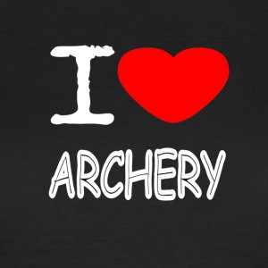 I LOVE ARCHERY - Dame-T-shirt