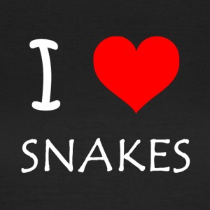I Love Snakes - Women's T-Shirt