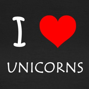 I Love Unicorns - Dame-T-shirt