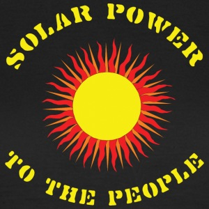 Jordens Dag Solar Power - Dame-T-shirt