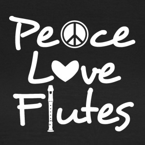Peace Love FLUTES - Frauen T-Shirt