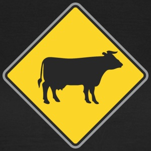 Road sign cow yellow - Women's T-Shirt