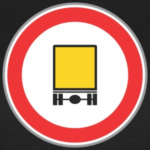 Road sign yellow truck - Women's T-Shirt