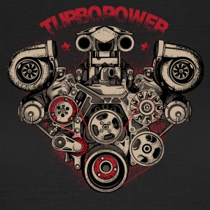 turbo macht - Vrouwen T-shirt