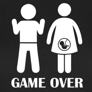 GAME OVER Zwangere - Vrouwen T-shirt