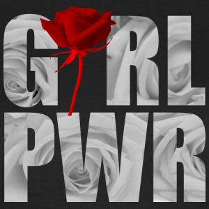 Girl Power wit - Vrouwen T-shirt
