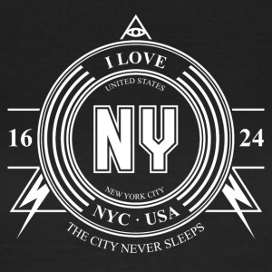 New York Badge - T-skjorte for kvinner