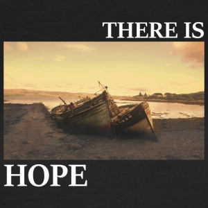 There_is_hope_picture_white_letters - T-shirt Femme