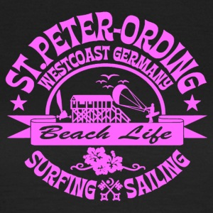 Ording Beach Logo pink - Frauen T-Shirt