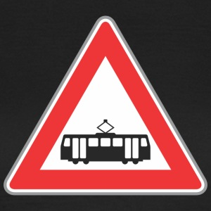 Road train sign rood - Vrouwen T-shirt