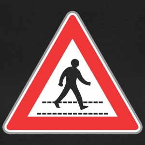 Road sign walking man sign - Women's T-Shirt