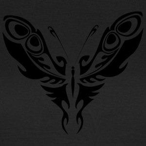 Noir Tatouage tribal papillon Silhouette - T-shirt Femme