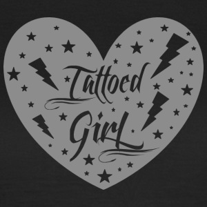 tattoed_girl_grey - T-skjorte for kvinner