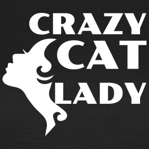 CRAZY CAT LADY hvit - T-skjorte for kvinner