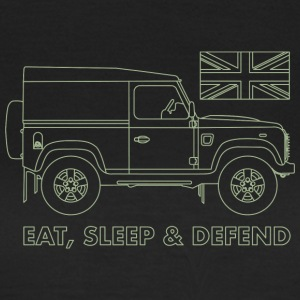 Eat, Sleep & Defend - Vrouwen T-shirt
