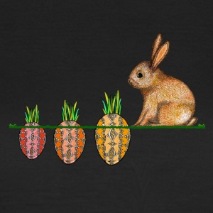 Happy Easter bunny with Ostermöhrchen - Women's T-Shirt