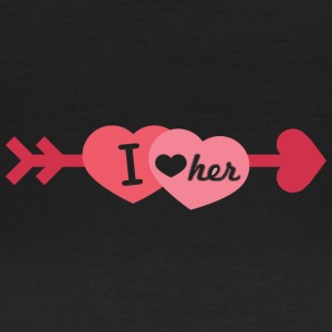 I love her - Frauen T-Shirt
