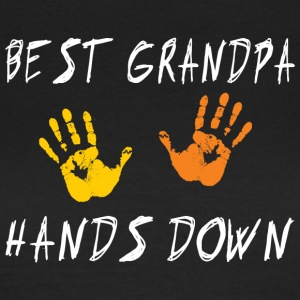 Best Grandpa Hands Down - Women's T-Shirt