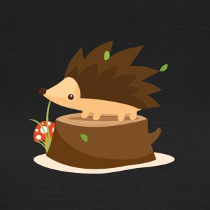 Hedgehog on stump - Women's T-Shirt