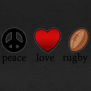 Peace Love Rugby - T-shirt dam
