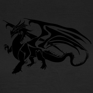 Black Dragon - TribalDragon - T-shirt dam