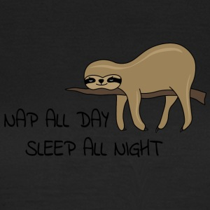 Sloth Napping - T-skjorte for kvinner