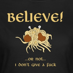 TROR i Flying Spaghetti Monster - T-skjorte for kvinner