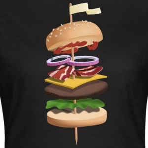 Hovering burgers on skewers - Women's T-Shirt