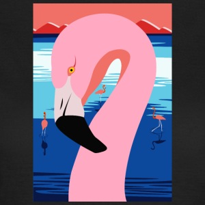 Sunset Flamingo - T-shirt dam