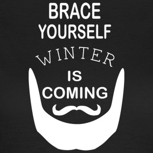 Brace Yourself Winter is Coming mit Bart - White - Frauen T-Shirt