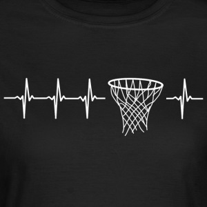 I love basketball (basketball heartbeat) - Women's T-Shirt