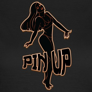 pin up girl 2 black fire - Women's T-Shirt