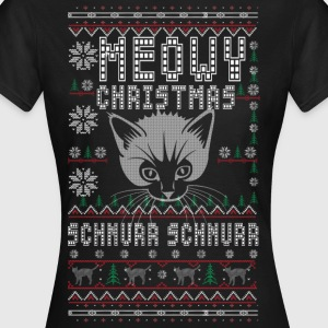Meowy Christmas - Frauen T-Shirt