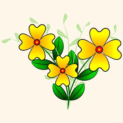 Blumenstrauß mit gelben Blumen, floral, Blüten - Frauen T-Shirt
