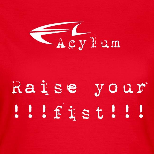 logo white raise your fist komplett