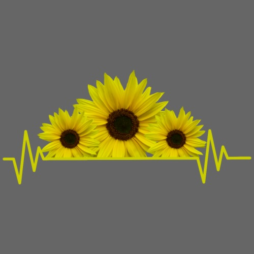 Sonnenblumen Herzschlag Sonnenblume Blumen Blüten - Frauen T-Shirt