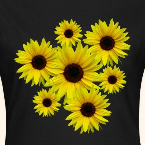 Sonnenblumenstrauß, Sonnenblumen, Blumen, Blüten - Frauen T-Shirt
